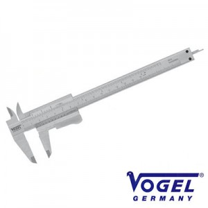 201020Z Παχύμετρο Vogel Γερμανίας 150mm με πατητό κουμπί και ISO πιστοποίησης