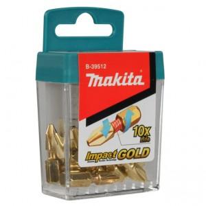 B-39512 Makita Κατσαβιδόλαμα Phillips PH2 25mm Impact GOLD 10 τεμάχια