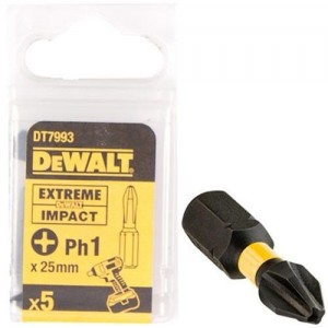 DT7993T DEWALT PH1 X 5 25MM ΜΥΤΕΣ